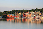 Waterfront of Belfast, Maine, USA