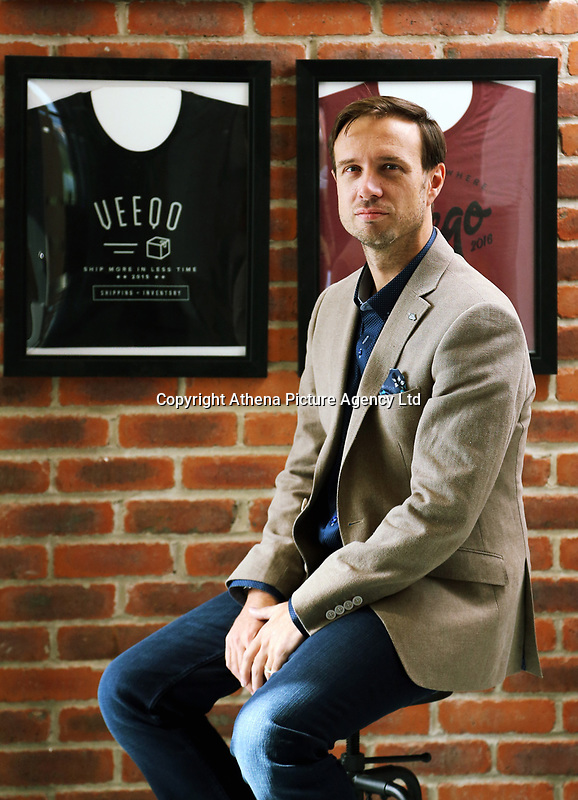 Matt Warren, founder of Veeqo an commence software business, in his office at the Tech Hub in Swansea, Wales, UK. Tuesday 19 September 2017