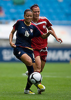 Angela Hucles, Melissa Tancredi. The USWNT defeated Canada, 1-0, at Suwon World Cup Stadium in Suwon, South Korea, to win the Peace Queen Cup.