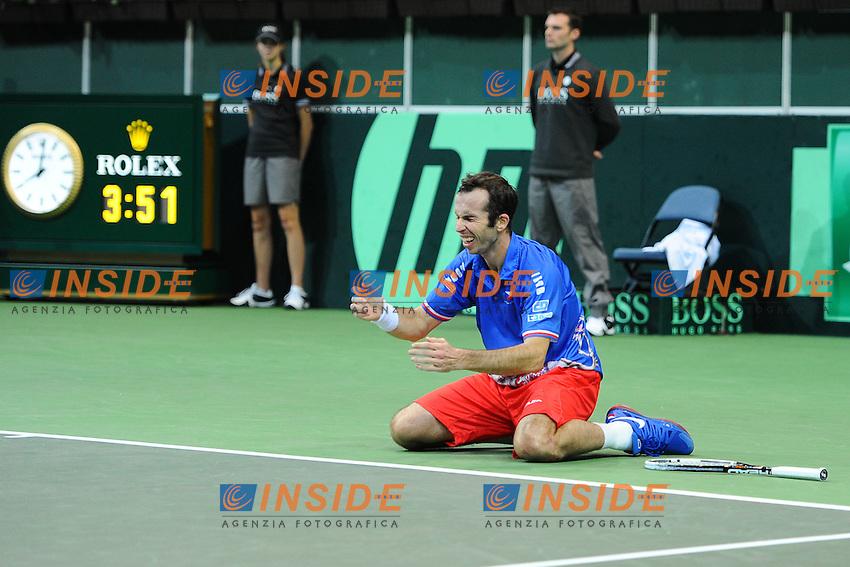 Radek Stepanek (Cze) La Repubblica Ceca vince la coppa Davis 2012 di Tennis .Praga 16-18/11/2012.Finale Coppa Davis.Repubblica Ceca Vs Spagna.Foto Couvercelle / Tennismag / Panoramic / Insidefoto