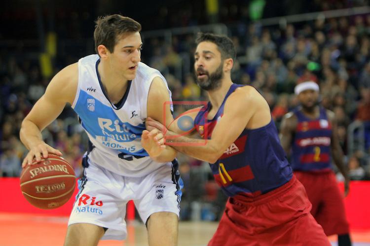 League ACB-ENDESA 2016/2017 - Game: 16.<br /> FC Barcelona Lassa vs Rio Natura Monbus Obradoiro: 100-76.<br /> Rosco Allen vs Juan Carlos Navarro.