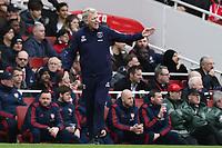 7th March 2020; Emirates Stadium, London, England; English Premier League Football, Arsenal versus West Ham United; West Ham United Manager David Moyes \
