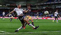Bolton Wanderers' Gary O'Neil crosses<br /> <br /> Photographer Andrew Kearns/CameraSport<br /> <br /> The EFL Sky Bet Championship - Bolton Wanderers v Sheffield Wednesday - Tuesday 12th March 2019 - University of Bolton Stadium - Bolton<br /> <br /> World Copyright © 2019 CameraSport. All rights reserved. 43 Linden Ave. Countesthorpe. Leicester. England. LE8 5PG - Tel: +44 (0) 116 277 4147 - admin@camerasport.com - www.camerasport.com