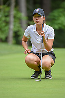Andrea Lee (a)(USA) lines up her putt on 13 during round 2 of the U.S. Women's Open Championship, Shoal Creek Country Club, at Birmingham, Alabama, USA. 6/1/2018.<br /> Picture: Golffile | Ken Murray<br /> <br /> All photo usage must carry mandatory copyright credit (&copy; Golffile | Ken Murray)