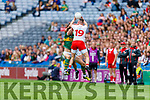 David Moran, Kerry and Jack Sherwood, Kerry in action against Richard Donnelly, Tyrone during the All Ireland Senior Football Semi Final between Kerry and Tyrone at Croke Park, Dublin on Sunday.