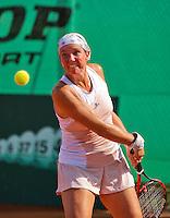 Netherlands, Amstelveen, August 22, 2015, Tennis,  National Veteran Championships, NVK, TV de Kegel,  Lady's  45+, Annemiek Wissink<br /> Photo: Tennisimages/Henk Koster