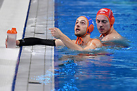 10 JANSSEN Pascal Netherlands <br /> Budapest 14/01/2020 Duna Arena <br /> ROMANIA (white caps) Vs. NETHERLANDS (blue caps) Men  <br /> XXXIV LEN European Water Polo Championships 2020<br /> Photo  © Andrea Staccioli / Deepbluemedia / Insidefoto