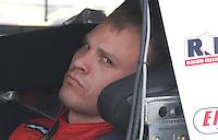 May 4, 2007; Richmond, VA, USA; Nascar Busch Series driver Bobby Santos (91) during qualifying for the Circuit City 250 at Richmond International Raceway. Mandatory Credit: Mark J. Rebilas
