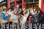 Josie Kissane Beaufort, Coral and Kevin Knighty Annascaul, Mary O'Sullivan Listry, Lucy Knightly Annascaul and Willie O'Connor Kilcummin at the Milltown horse fair on Sunday