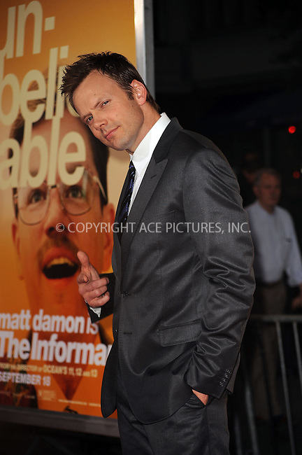 WWW.ACEPIXS.COM . . . . . ....September 15 2009, New York City....Joel McHale arriving at the 'The Informant' benefit screening at the Ziegfeld Theatre on September 15, 2009 in New York City.....Please byline: KRISTIN CALLAHAN - ACEPIXS.COM.. . . . . . ..Ace Pictures, Inc:  ..tel: (212) 243 8787 or (646) 769 0430..e-mail: info@acepixs.com..web: http://www.acepixs.com