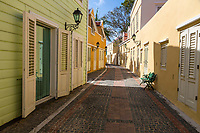 Willemstad, Curacao, Lesser Antilles.  A Street in the Kura Hulanda Historic Area.
