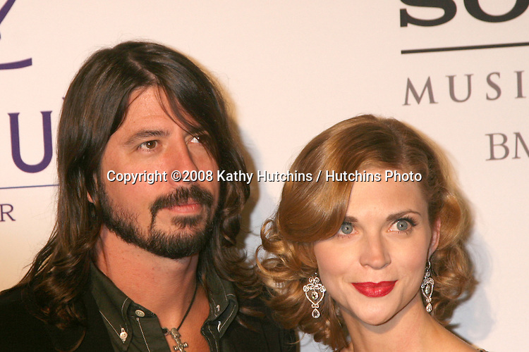 David Grohl & date.Clive Davis Annual Pre-Grammy Party.Beverly Hilton Hotel.Los Angeles, CA.February 9, 2008.©2008 Kathy Hutchins / Hutchins Photo....