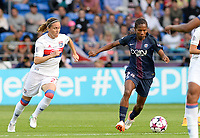 20170601 - CARDIFF , WALES : Lyon's Camille Abily (left) pictured with PSG's Formiga (r) during a womensoccer match between the teams of  Olympique Lyonnais and PARIS SG, during the final of the Uefa Women Champions League 2016 - 2017 at the Cardiff City Stadium , Cardiff - Wales - United Kingdom , Thursday 1  June 2017 . PHOTO SPORTPIX.BE | DAVID CATRY