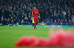 Roberto Firmino of Liverpool as a flare is thrown on to the pitch during the English Premier League match at Goodison Park, Liverpool. Picture date: December 19th, 2016. Photo credit should read: Lynne Cameron/Sportimage