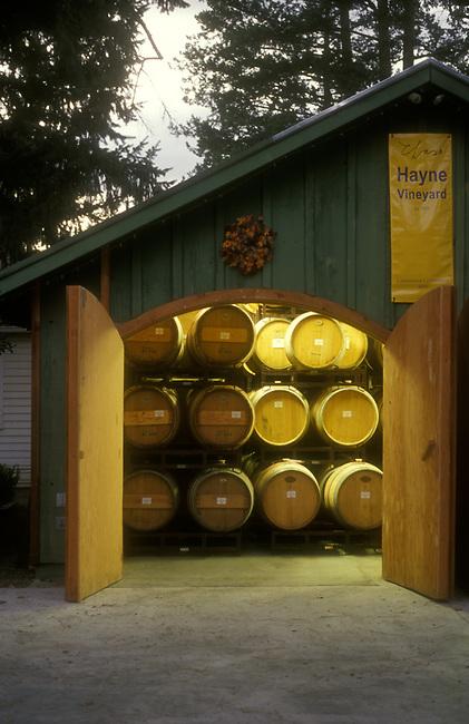 Small winery, Hayne Vineyard, in St. Helena