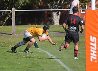 Action from the Transit Coachlines 1st XV Festival rugby union match between Wellington College and Gisborne Boys' High School at Rathkeale College in Masterton, New Zealand on Saturday, 4 May 2019. Photo: Dave Lintott / lintottphoto.co.nz