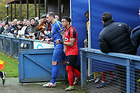 A bumper crowd welcome the teams onto the pitch during Romford vs Coggeshall Town, BetVictor League North Division Football at the Brentwood Centre on 16th November 2019
