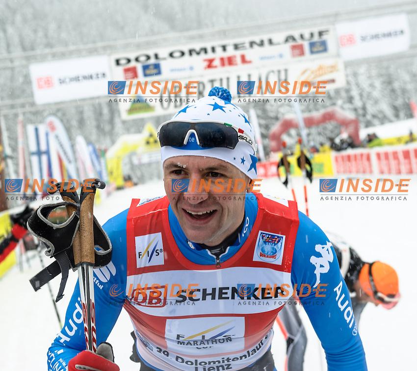 Fabio Santus (ITA).20.01.2013, Loipe Obertilliach, AUSTRIA.Dolomitenlauf - Sci Nordico di Fondo .Foto EXPA/ Michael Gruber / Insidefoto.ITALY ONLY