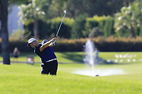 Tom Lewis (ENG) plays his 2nd shot on the 16th hole during Friday's Round 2 of the 2018 Turkish Airlines Open hosted by Regnum Carya Golf &amp; Spa Resort, Antalya, Turkey. 2nd November 2018.<br /> Picture: Eoin Clarke | Golffile<br /> <br /> <br /> All photos usage must carry mandatory copyright credit (&copy; Golffile | Eoin Clarke)