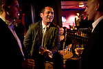 Lobbyists gather for drinks in the Scandal lounge at the Citizen Hotel in Sacramento, California.