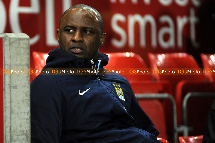 Manchester City Under 21 manager Patrick Vieira - Manchester United Under-21 vs Manchester City Under-21 - Barclays Under-21 Premier League Football at Salford City Stadium, Manchester - 27/01/14 - MANDATORY CREDIT: Greig Bertram/TGSPHOTO - Self billing applies where appropriate - 0845 094 6026 - contact@tgsphoto.co.uk - NO UNPAID USE