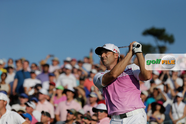 Sergio Garcia (ESP) on the 18th during the final round of The Players, TPC Sawgrass, Ponte Vedra Beach, Florida, United States. 10/05/2015<br /> Picture Fran Caffrey, www.golffile.ie