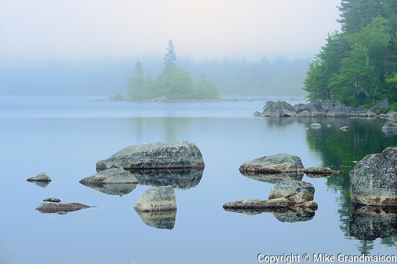 Fog along the coast<br /> PortJoli<br /> Nova Scotia<br /> Canada