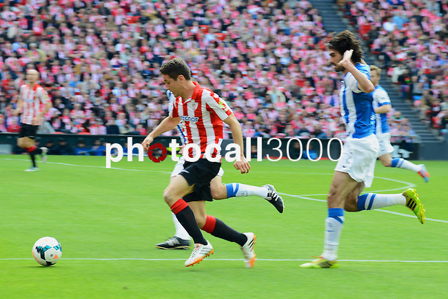 Football macht during La Liga BBVA.<br /> Athletic Club - Real Sociedad<br /> ander herrera