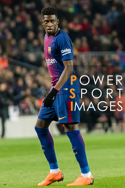 Luis Alberto Suarez Diaz of FC Barcelona reacts during the La Liga 2017-18 match between FC Barcelona and Girona FC at Camp Nou on 24 February 2018 in Barcelona, Spain. Photo by Vicens Gimenez / Power Sport Images