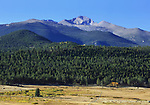 One of the high peaks surrounding the Moraine Park valley at Rocky Mountain National Park, Colorado, USA