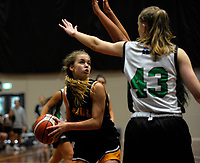 Action from the 2017 national under-19 basketball championship tournament women's 3rd place playoff between Waitakere West and Taranaki at The North Shore Events Centre in Hillcrest, Auckland, New Zealand on Tuesday, 6 June 2017. Photo: Dave Lintott / lintottphoto.co.nz