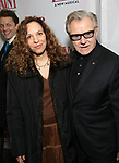 Daphna Kastner and Harvey Keitel attend the Broadway Opening Night Performance of 'War Paint' at the Nederlander Theatre on April 6, 2017 in New York City