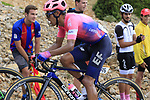 Daniel Martinez (COL) EF Education First on the final Cat 1 climb up to Observatorio Astrofisico de Javalambre during Stage 5 of La Vuelta 2019 running 170.7km from L'Eliana to Observatorio Astrofisico de Javalambre, Spain. 28th August 2019.<br /> Picture: Eoin Clarke | Cyclefile<br /> <br /> All photos usage must carry mandatory copyright credit (© Cyclefile | Eoin Clarke)