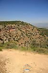 Israel, Upper Galilee, Israel Trail overlooking Nahal Kadesh at Koach Fortress