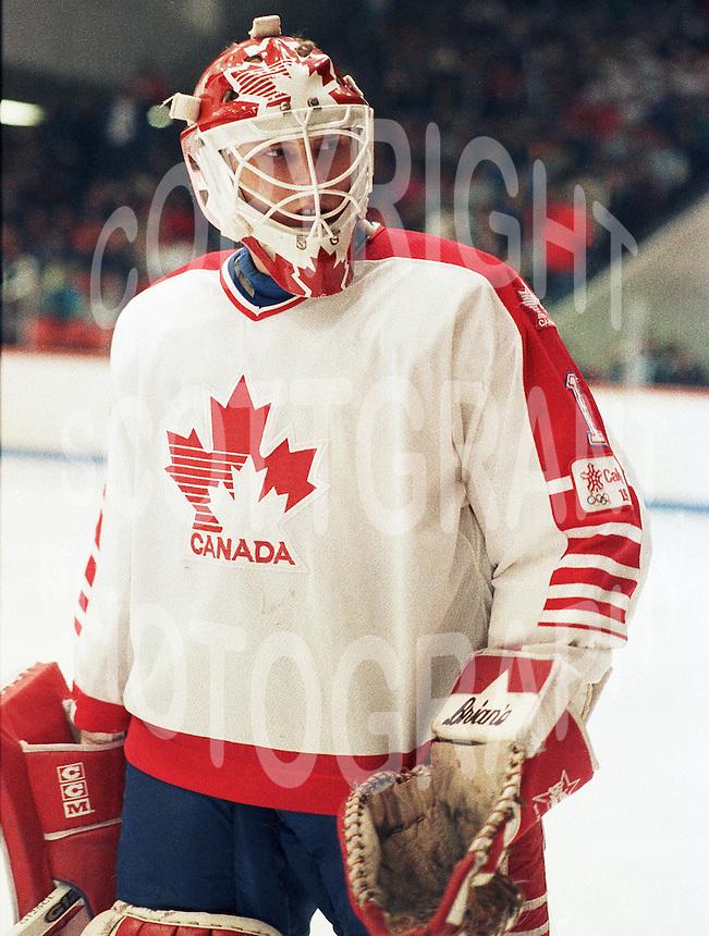 Sean Burke Team Canada 1987. Photo copyright F. Scott Grant