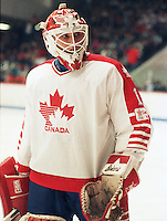 Sean Burke Team Canada 1987. Photo copyright F. Scott Grant