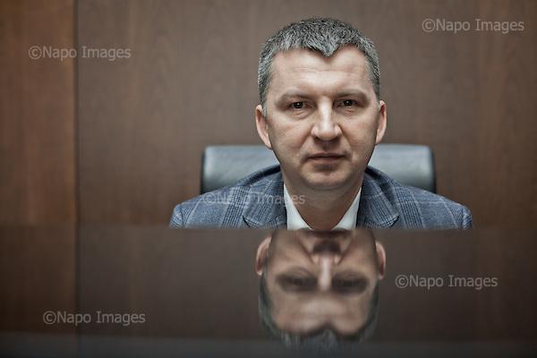 POLKOWICE, 26/02/2015:<br /> Dariusz Milek , szef CCC, sesja w siedzibie firmy.<br /> Fot: Piotr Malecki / Napo Images<br /> <br /> POLKOWICE, POLAND, 26/02/2015:<br /> Dariusz Milek, head of CCC, Polish shoe manufacturer is posing at his company in Polkowice.<br /> (Photo by Piotr Malecki / Napo Images)