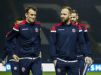 Bolton Wanderers' Christian Doidge and Ben Alnwick  <br /> <br /> Photographer Andrew Kearns/CameraSport<br /> <br /> The EFL Sky Bet Championship - Sheffield Wednesday v Bolton Wanderers - Tuesday 27th November 2018 - Hillsborough - Sheffield<br /> <br /> World Copyright &copy; 2018 CameraSport. All rights reserved. 43 Linden Ave. Countesthorpe. Leicester. England. LE8 5PG - Tel: +44 (0) 116 277 4147 - admin@camerasport.com - www.camerasport.com