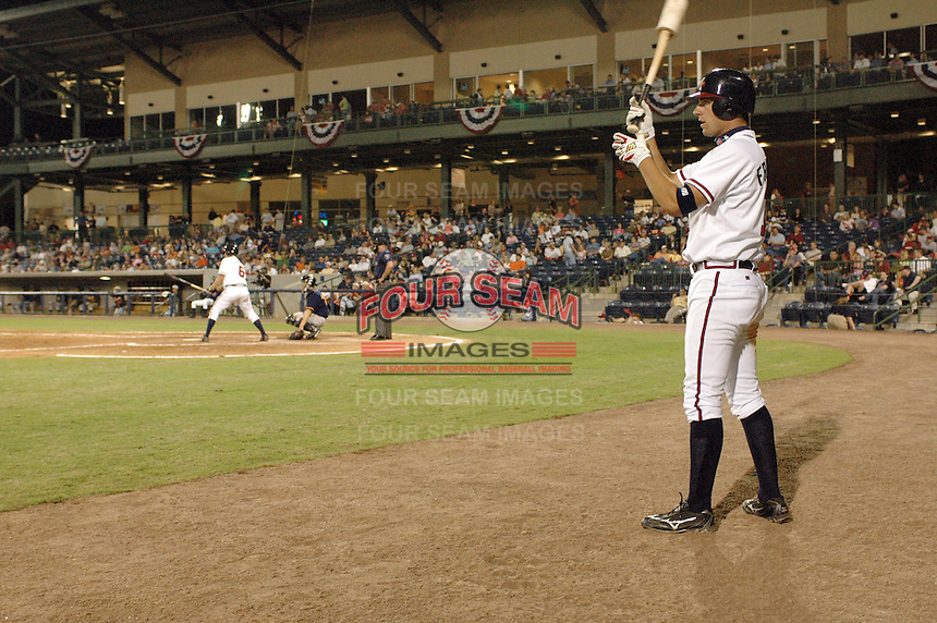 20 April 2005: Outfielder Jeff Francoeur of the Mississippi Braves, Class AA affiliate of the Atlanta Braves, taken at Trustmark Park in Pearl, Miss.  (Tom Priddy/Four Seam Images)