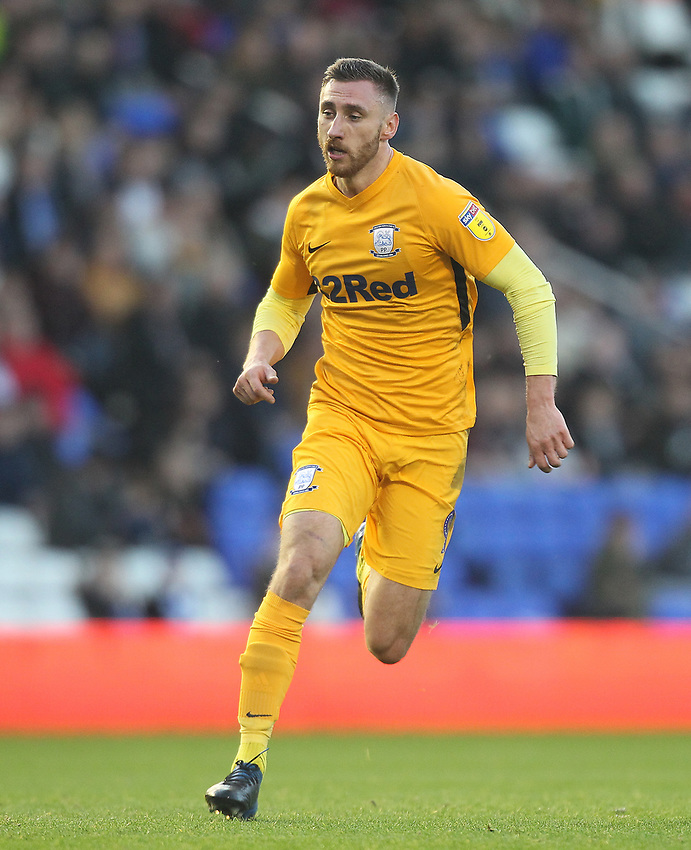 Preston North End's Louis Moult<br /> <br /> Photographer Mick Walker/CameraSport<br /> <br /> The EFL Sky Bet Championship - Birmingham City v Preston North End - Saturday 1st December 2018 - St Andrew's - Birmingham<br /> <br /> World Copyright © 2018 CameraSport. All rights reserved. 43 Linden Ave. Countesthorpe. Leicester. England. LE8 5PG - Tel: +44 (0) 116 277 4147 - admin@camerasport.com - www.camerasport.com