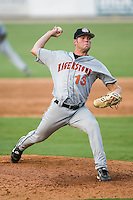 Hagerstown relief pitcher Josh Wilkie (13) in action versus Kannapolis at Fieldcrest Cannon Stadium in Kannapolis, NC, Sunday, August 12, 2007.