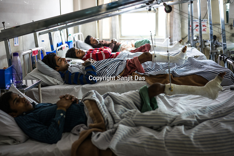 Polio patients undergoing treatment in the Polio Ward of the St. Stephen's Hospital in Delhi, India. Dr. Mathew Varghese is the polio specialist who is providing path breaking technology and making polio patients walk, sometimes first time in their lives.