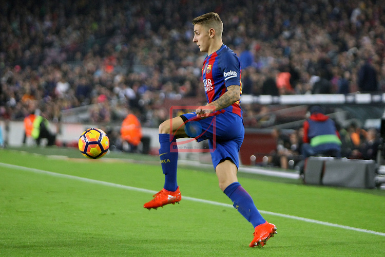 League Santander 2016/2017. Game: 10.<br /> FC Barcelona vs Granada CF: 1-0.<br /> Lucas Digne.