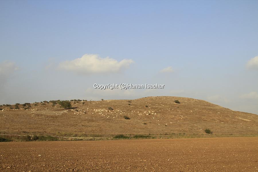 Israel, Shephelah, a view of Tel Burna, a Canaanite and Israelite site