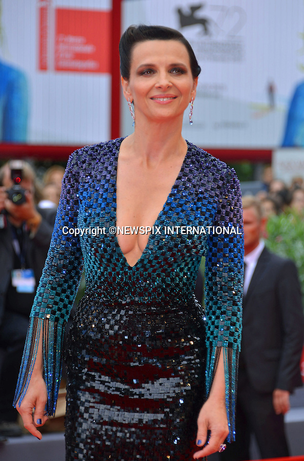 05.09.2015; Venezia, Italy: JULIETTE BINOCHE<br />
