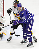 Lawton McCracken (WIT - 44), Tyler Vankleef (Curry - 15) - The Wentworth Institute of Technology Leopards defeated the visiting Curry College Colonels 1-0 on Saturday, November 23, 2013, at Walter Brown Arena in Boston, Massachusetts.