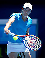 Justine Henin (BEL) against Nadia Petrova (RUS) (19) in the Quarter Finals for the Womens Singles. Henin beat Petrova 7-6 7-5..International Tennis - Australian Open Tennis -  Tues 26  Jan 2010 - Melbourne Park - Melbourne - Australia ..© Frey - AMN Images, 1st Floor, Barry House, 20-22 Worple Road, London, SW19 4DH.Tel - +44 20 8947 0100.mfrey@advantagemedianet.com