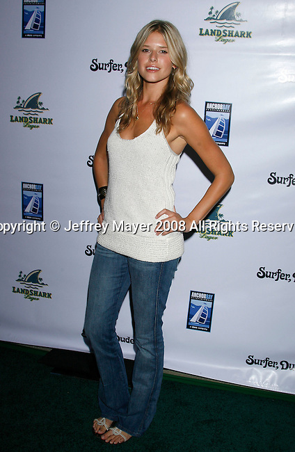 "MALIBU, CA. - September 10: Actress Sarah Wright arrives at the ""Surfer Dude"" premiere at the Malibu Cinemas on September 10, 2008 in Malibu, California."
