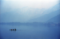 A boat at Dal Lake during evening, Srinagar, Jammu and Kashmir, India, Arindam Mukherjee
