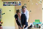 © Joel Goodman - 07973 332324 . 14/06/2016 . Burnley , UK . Yvette Cooper MP and Ed Balls arrive to make cakes with children whilst campaigning for Remain , in the EU referendum , at Giant Leap Child Care and Learning House in Burnley . Photo credit : Joel Goodman